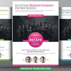 Corporate Real Estate Flyer Template Psd