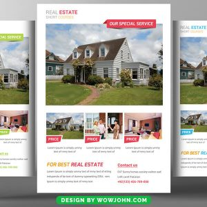 Luxury Real Estate Flyer Template in PSD Format
