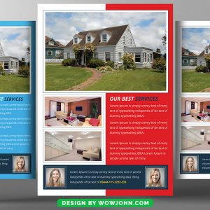 Free Real Estate Sale Flyer Template Psd