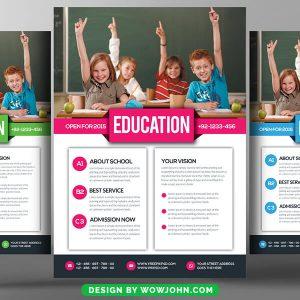 Junior School Education Psd Flyer Template