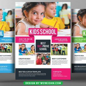 Kindergarten Flyer Free Psd Template