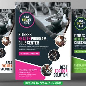 Health Fitness Gym Flyer Psd Template Design
