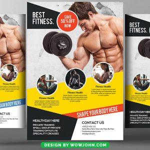 Fitness Flyer Design Psd Template Download