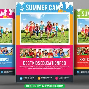 Kids Summer Camp Flyer Free Psd Template