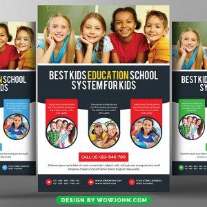 Kids Education School Psd Flyer Template