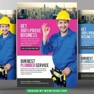 Plumber Service Flyer Design Psd Template