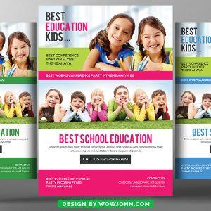 Kids School Education Flyer Template PSD