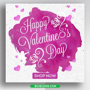 Free Valentines Day Banner Psd Template