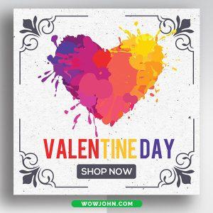 Free Valentines Day Social Media Facebook Banner