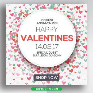 Valentines Day Social Media Instagram Banner