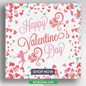 Valentines Day Social Media Instagram Banner Psd