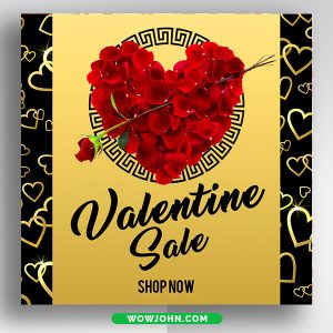 Free Valentines Day Social Media Banner Template