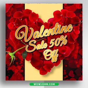Valentines Day Social Media Banner Free Template