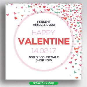 Valentines Day Banner Template Free Psd