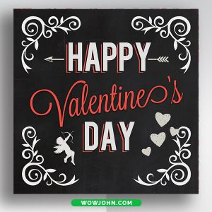 Valentine Day Banner Template Free Psd