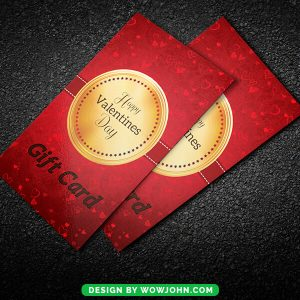 Valentine Day Gift Card Psd Template