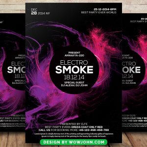 Free Electro Smoke Psd Flyer Template