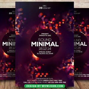 Minimal Sound Music Psd Flyer Template