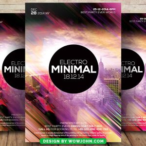 Minimal Electro Sound Psd Flyer Template