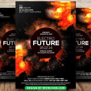 Electro Future Free Psd Flyer Template