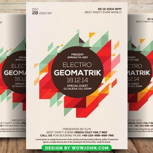 Geometric Party Psd Flyer Template