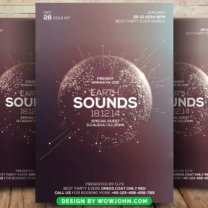 Free Earth Sound Psd Flyer Template