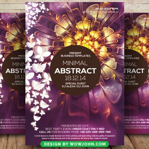 Minimal Abstract Future Psd Flyer Template