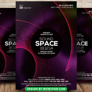 Free Sound Space Psd Flyer Template