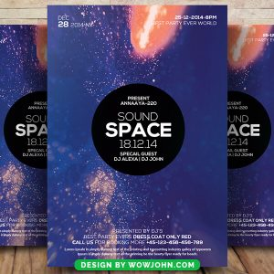 Space Sound Psd Flyer Template Download