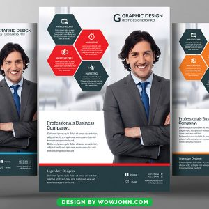 Design Conference Flyer Free Psd Template