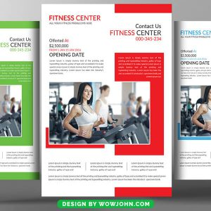 Fitness Training Flyer Free Psd Template