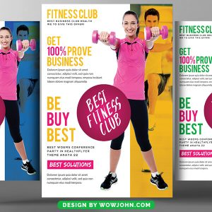 Fitness Trainer Flyer Free Psd Template