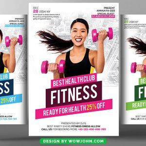 Fitness Health Gym Psd Flyer Template