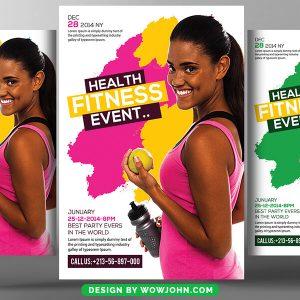 Girls Fitness Club Psd Flyer Template