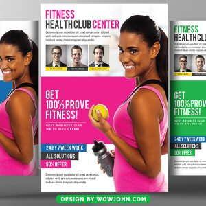 Free Fitness Flyer Template Publisher