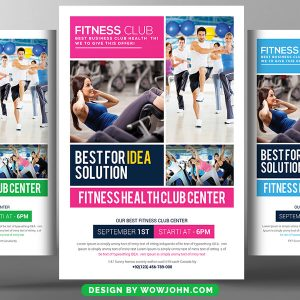 Fitness Club Trainer Psd Flyer Template
