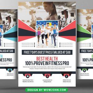Fitness Gym Club Psd Flyer Template