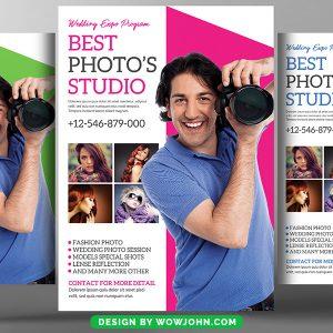 Best Photographer Studio Psd Flyer Template