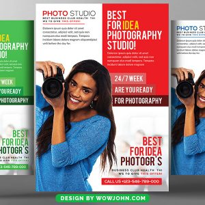 Wedding Photographer Studio Psd Flyer Template