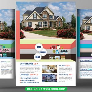 Home House For Sale Psd Flyer Template