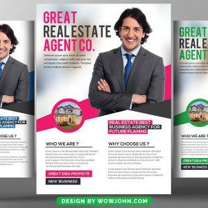 Real Estate Advisor Agent Psd Flyer Template