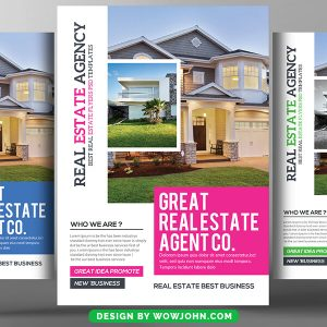 Open House Real Estate Psd Flyer Template
