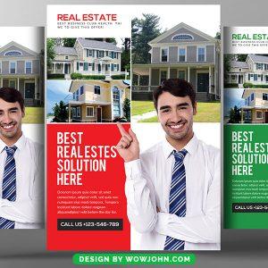Real Estate Psd Flyer Poster Template Design