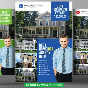 Open House Real Estate Agency Psd Flyer Template