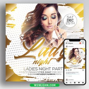 Ladies Night Psd Flyer Template Download