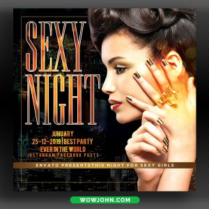 Night Club Party Flyer Template Free Psd