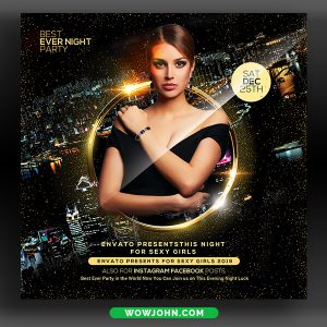 Girls Night Club Party Flyer Template Psd