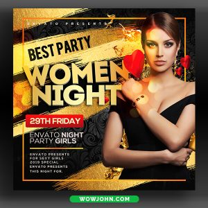 Womens Night Club Flyer Template Psd Download