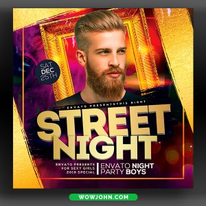 Neon Night Club Flyer Template Psd Download