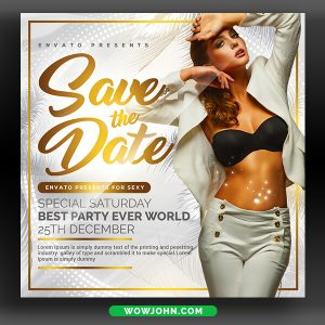 Save The Date Flyer Template Psd Download